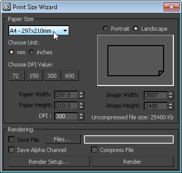 print size wizard