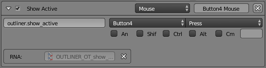 blender mouse button