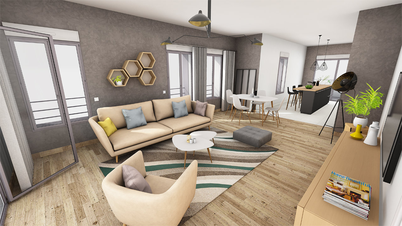 "Visite virtuelle d'un appartement, sous <span class=""slippryEngine"">BabylonJS</span> <span class=""slippryCopy"">&copy; Axeon Software 2018</span>"