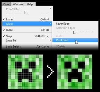 desactiver grille des pixels